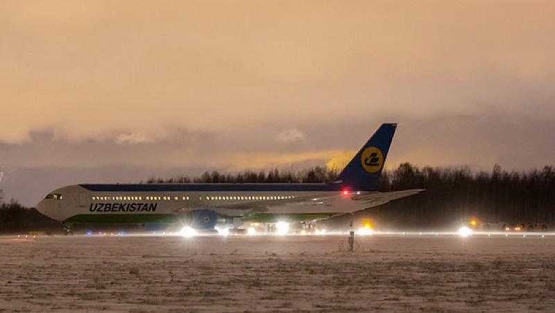 Самолет Uzbekistan Airways на сутки опоздал в Ташкент из-за ЧП в Петербурге