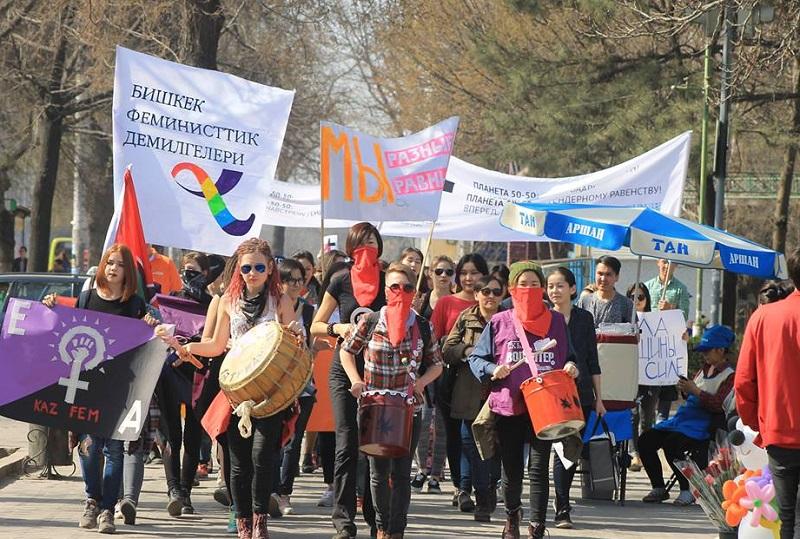 Мэрия Бишкека передумала запрещать женский марш 8 марта